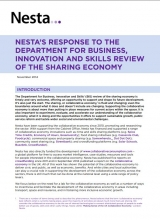 Nesta's response to BIS review of sharing economy